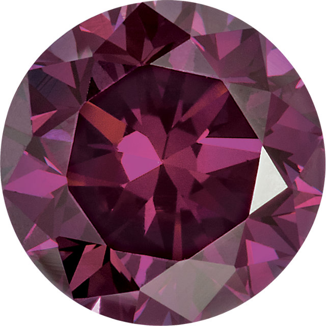 Natural Extra Fine Rich Purple Diamond - Round - VS2-SI1 - Africa - Extra Fine Grade