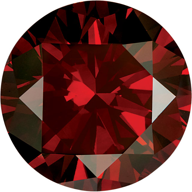 Natural Extra Fine Deep Vivid Red Diamond - Round - VS2-SI1 - Africa - Extra Fine Grade