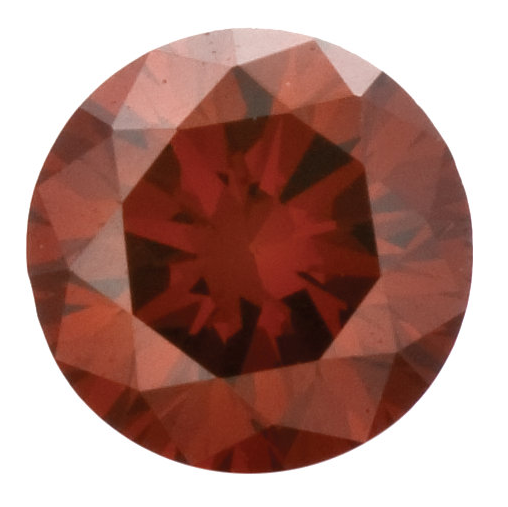Natural Fine Deep Red Diamond - Round - VS2-SI1 - Africa - NW Gems & Diamonds