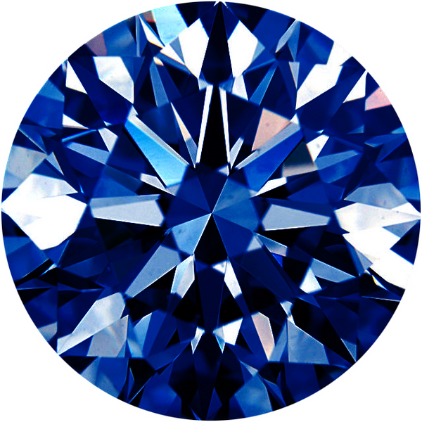Natural Extra Fine Rich Blue Diamond - Round - VVS2-VS1 - Africa - Extra Fine Grade