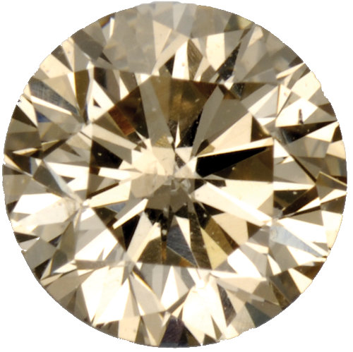 Natural Fine Light Brown Diamond - Round - VS2-SI1 - Africa - NW Gems & Diamonds