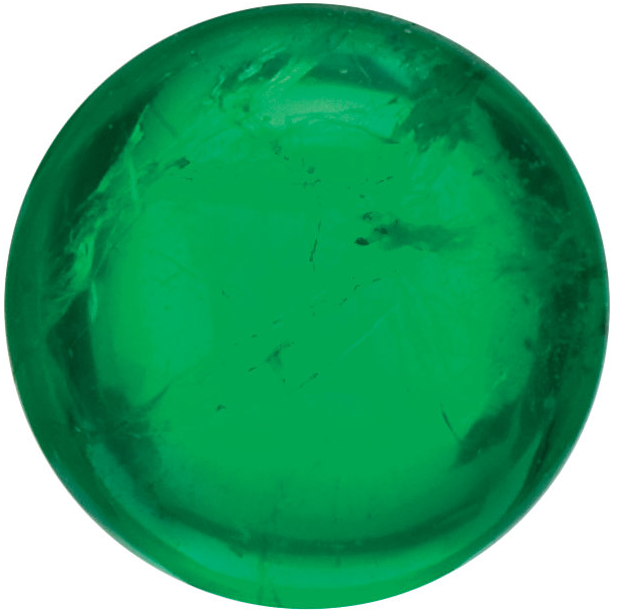 Natural Fine Green Emerald - Round Cabochon - Brazil - Top Grade - NW Gems & Diamonds