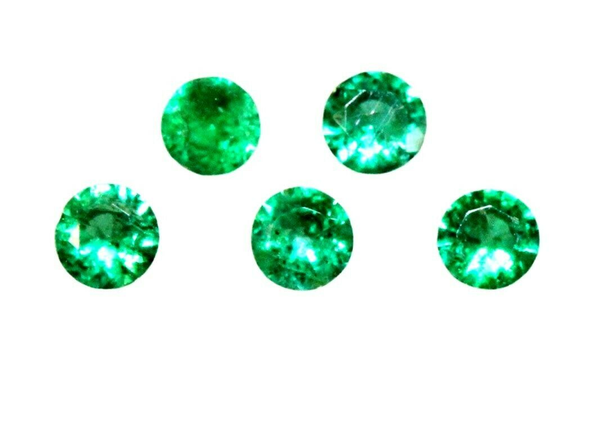 Natural Super Fine Emerald Melee - Round Diamond Cut - Brazil - AAAA Grade