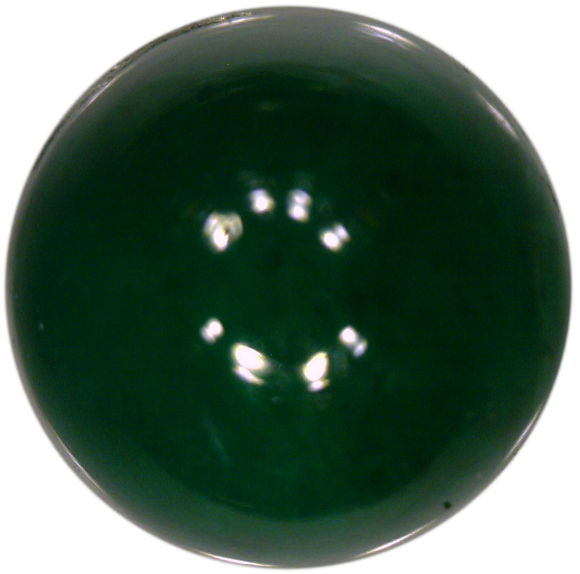 Natural Fine Deepest Green Emerald - Round Cabochon - Brazil - Top Grade - NW Gems & Diamonds