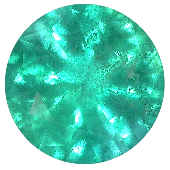 Natural Fine Medium Green Emerald - Round - Brazil - AA+ Grade