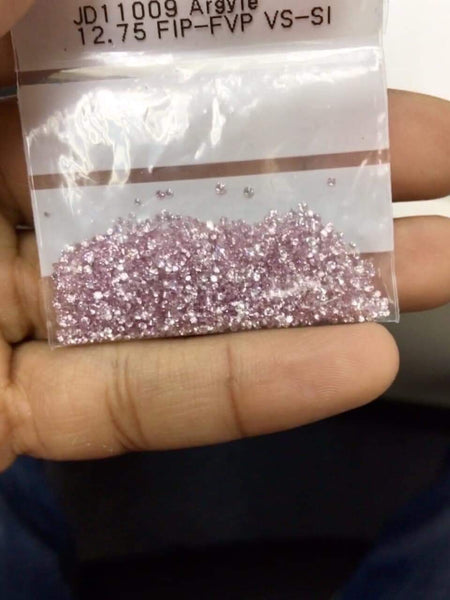 Natural Rare Extra Fine Pink Diamond - Round - Australia - Unheated, Untreated
