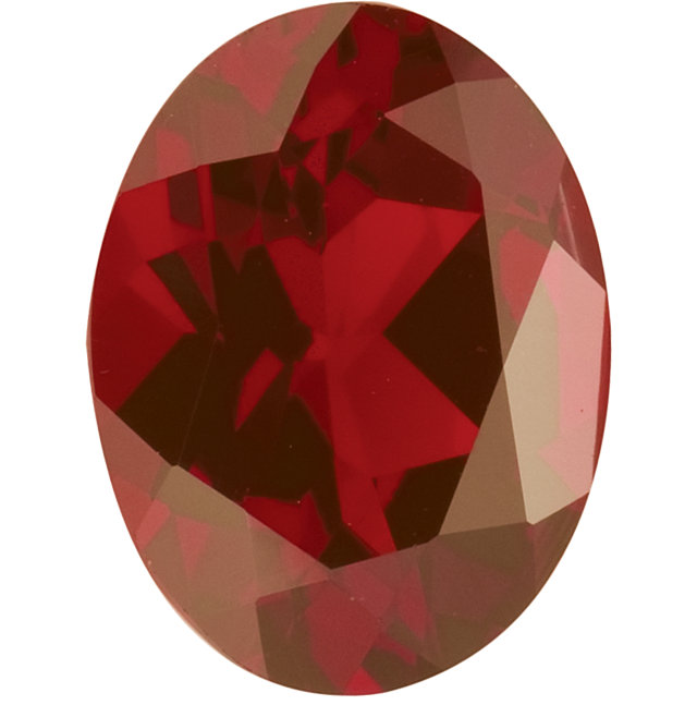 Natural Fine Rich Amber Red Garnet - Oval - Mozambique - Top Grade - NW Gems & Diamonds