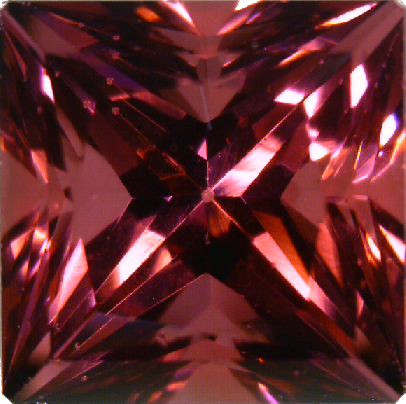 Natural Fine Raspberry Rhodolite Garnet - Square Princess - Tanzania - Top Grade - NW Gems & Diamonds