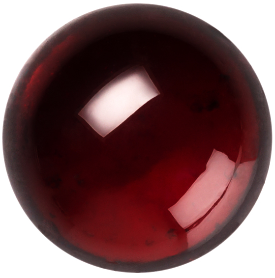 Natural Extra Fine Deep Red Garnet - Round Cabochon - Tanzania -AAA+ Grade
