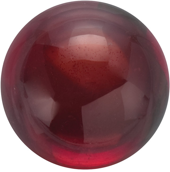 Natural Fine Deep Red Garnet - Round Cabochon - Mozambique - AAA Grade
