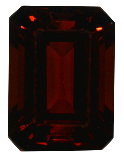 Natural Fine Deep Red Garnet - Emerald Cut - Tanzania - Top Grade - NW Gems & Diamonds