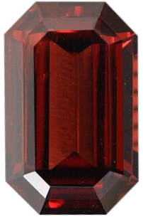 Natural Fine Deep Raspberry Plum Red Rhodolite Garnet - Emerald Cut - Madagascar - Top Grade - NW Gems & Diamonds
