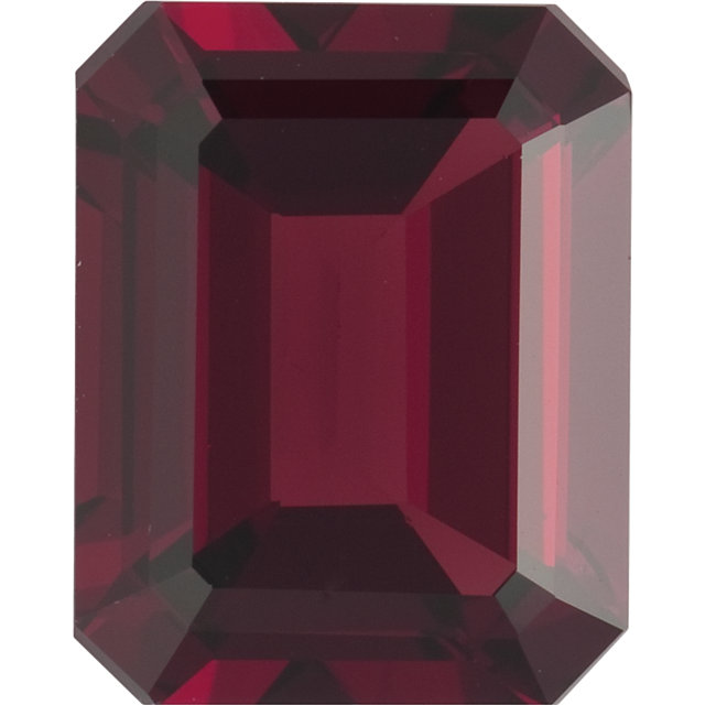 Natural Fine Deep Amber Red Garnet - Emerald Cut - Mozambique - Top Grade - NW Gems & Diamonds