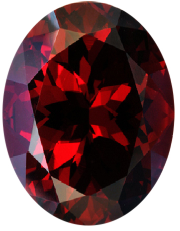Natural Fine Intense Deep Red Garnet - Oval - Tanzania - Top Grade - NW Gems & Diamonds