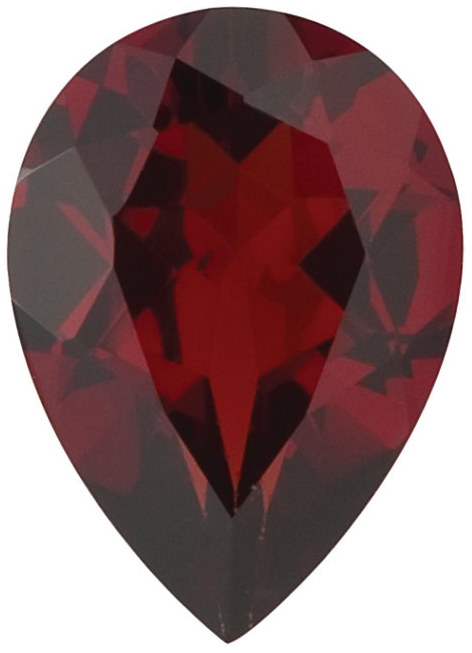 Natural Fine Deep Red Garnet - Pear Shape - Mozambique - Top Grade - NW Gems & Diamonds