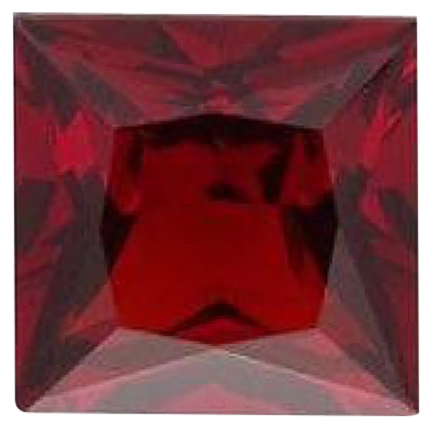 Natural Fine Deep Red Garnet - Square Princess - Tanzania - Top Grade - NW Gems & Diamonds