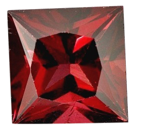 Natural Fine Vivid Deep Red Garnet - Square Princess - Tanzania - Top Grade - NW Gems & Diamonds