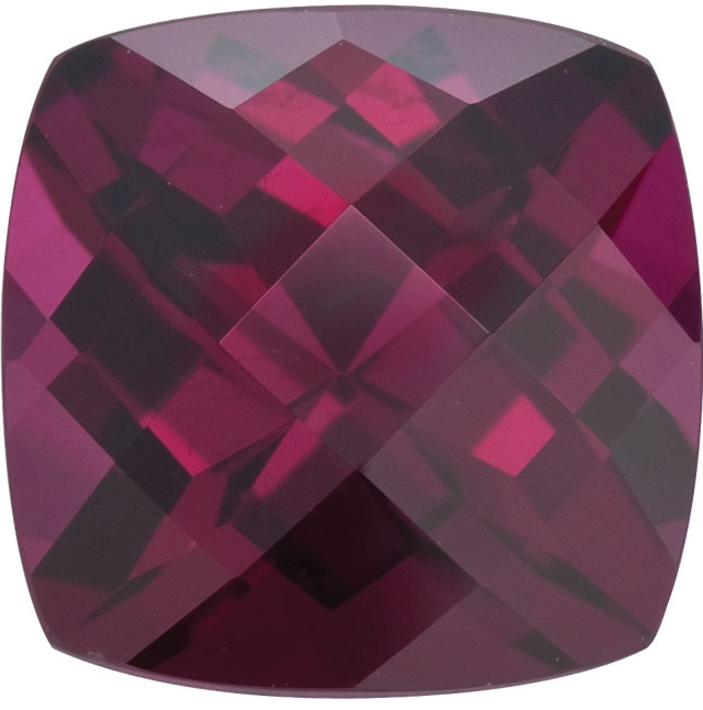 Natural Fine Deep Plum Red Rhodolite Garnet - Square Cushion Checkerboard - Madagascar - Top Grade - NW Gems & Diamonds