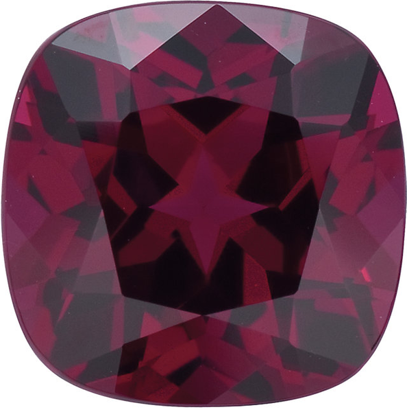 Natural Fine Deep Plum Rhodolite Garnet - Square Cushion - Madagascar - Top Grade - NW Gems & Diamonds