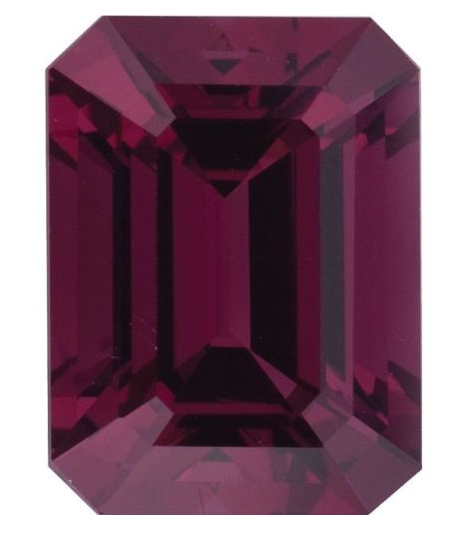 Natural Fine Deep Plum Rose Red Rhodolite Garnet - Emerald Cut - Madagascar - Top Grade - NW Gems & Diamonds