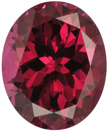 Natural Extra Fine Raspberry Red Wine Rhodolite Garnet - Oval - Tanzania - AAA+ Grade