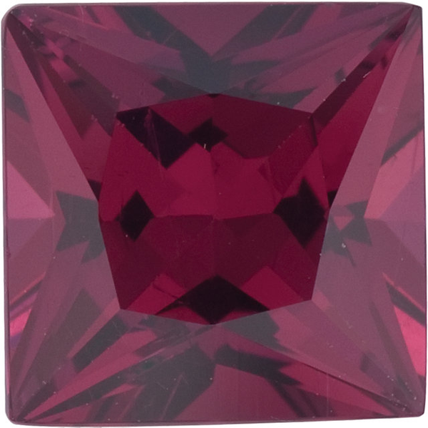 Natural Fine Deep Plum Red Rhodolite Garnet - Square Princess - Mozambique - Top Grade - NW Gems & Diamonds