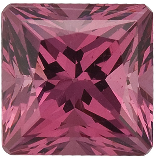 Natural Fine Pink Rose Rhodolite Garnet - Square Princess - Tanzania - Top Grade - NW Gems & Diamonds
