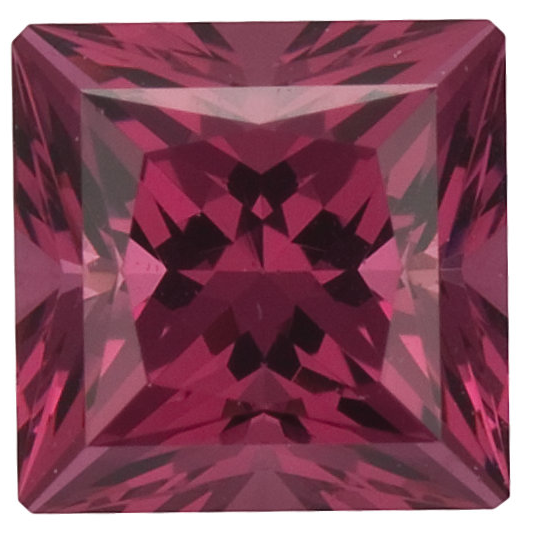 Natural Fine Deep Raspberry Rhodolite Garnet - Square Princess - Tanzania - Top Grade - NW Gems & Diamonds