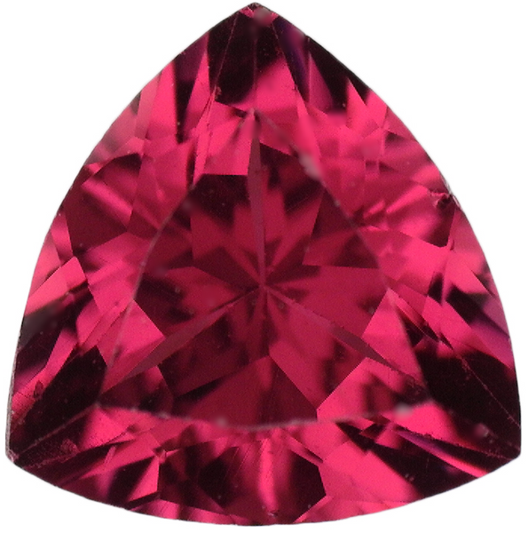 Natural Fine Rose Red Rhodolite Garnet - Trillion - Madagascar - AAA Grade