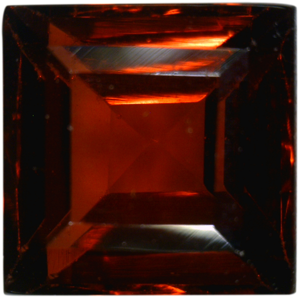 Natural Fine Deep Amber Red Garnet - Square Step - Mozambique - Top Grade - NW Gems & Diamonds