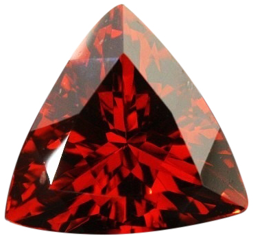 Natural Fine Deep Vivid Red Garnet - Trillion - Tanzania - Top Grade - NW Gems & Diamonds