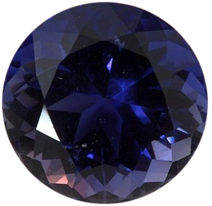 Natural Fine Vivid Purple Blue Iolite - Round - Tanzania - Top Grade - Top Tanzanite Color - NW Gems & Diamonds