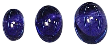 Natural Extra Fine Deep Blue Purple Iolite - Oval Cabochon - Namibia - AAA+ Grade