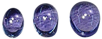 Natural Fine Blue Purple Iolite - Oval Cabochon - Namibia - AAA Grade