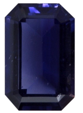 Natural Extra Fine Deep Purple Blue Iolite - Emerald Cut - Tanzania - Extra Fine Grade - Extra Fine Tanzanite Color - NW Gems & Diamonds