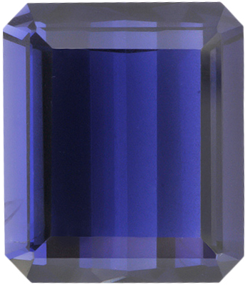 Natural Fine Purple Blue Iolite - Emerald Cut - Brazil - Top Grade - Top Tanzanite Color - NW Gems & Diamonds