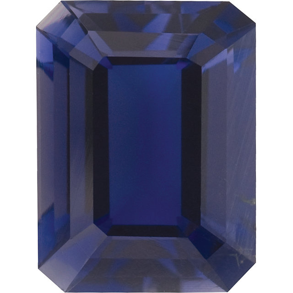 Natural Extra Fine Rich Purple Blue Iolite - Emerald Cut - Brazil - Extra Fine Grade - Extra Fine Tanzanite Color - NW Gems & Diamonds