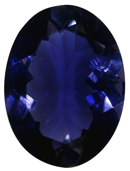 Natural Extra Fine Deep Purple Blue Iolite - Oval - Sri Lanka - Extra Fine Grade - Extra Fine Tanzanite Color - NW Gems & Diamonds