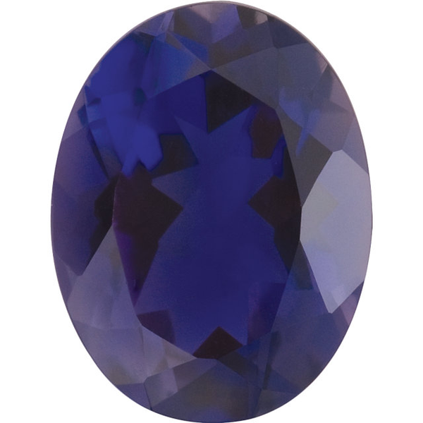 Natural Fine Purple Blue Iolite - Oval - Brazil - Top Grade - Top Tanzanite Color - NW Gems & Diamonds