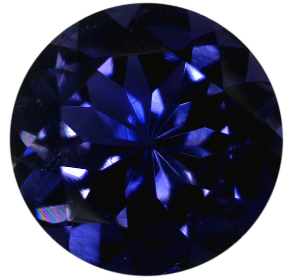 Natural Extra Fine Deep Purple Blue Iolite - Round - Sri Lanka - Extra Fine Grade - Extra Fine Tanzanite Color - NW Gems & Diamonds