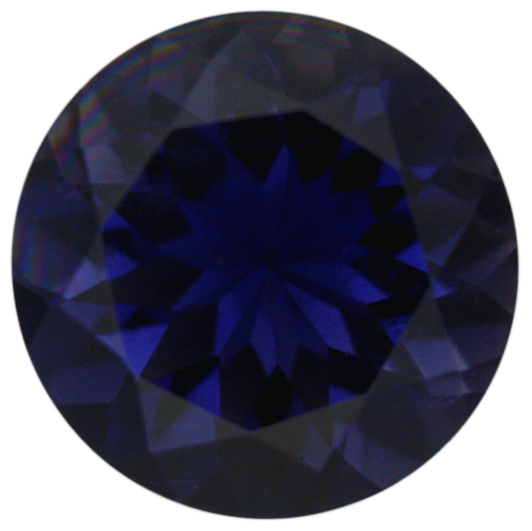 Natural Extra Fine Deep Purple Blue Iolite - Round - Namibia - Extra Fine Grade - Extra Fine Tanzanite Color - NW Gems & Diamonds