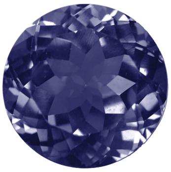 Natural Fine Blue Purple Iolite - Round - India - Select Grade - Tanzanite Color - NW Gems & Diamonds