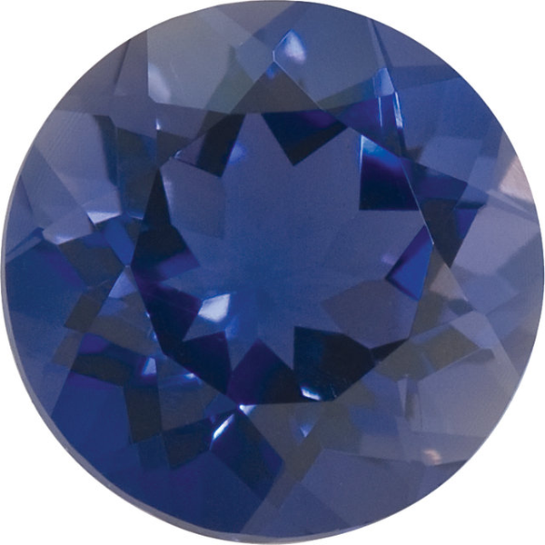 Natural Fine Purple Blue Iolite - Round - Brazil - Top Grade - Top Tanzanite Color - NW Gems & Diamonds
