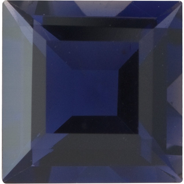 Natural Extra Fine Deep Purple Blue Iolite - Square Step - Brazil - Extra Fine Grade - Extra Fine Tanzanite Color - NW Gems & Diamonds