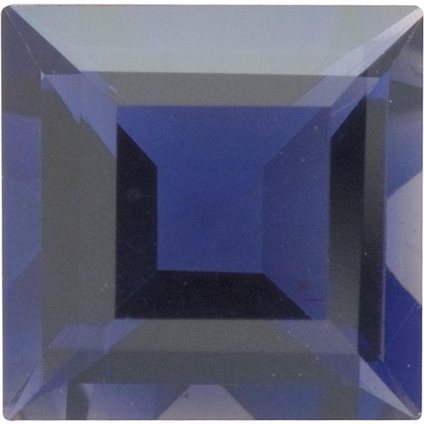 Natural Fine Rich Purple Blue Iolite - Square Step - Brazil - Top Grade - Top Tanzanite Color - NW Gems & Diamonds