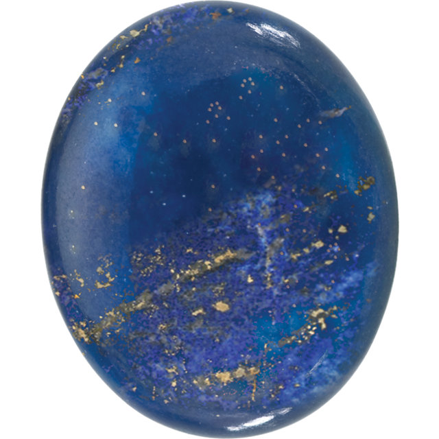 Natural Fine Blue Lapis Lazuli - Oval Cabochon - Afghanistan - AAA Grade
