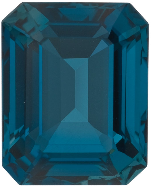 Natural Fine London Blue Topaz - Emerald Cut - Brazil - Top Grade - NW Gems & Diamonds