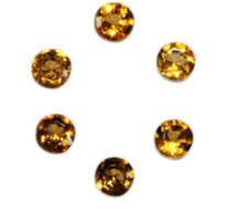 Natural Super Fine Citrine Melee - Round Diamond Cut - Zambia - AAAA Grade