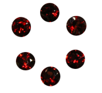Natural Super Fine Red Garnet Melee - Round Diamond Cut - Mozambique - AAAA Grade