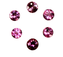 Natural Super Fine Pink Tourmaline Melee - Round Diamond Cut - Brazil - AAAA Grade